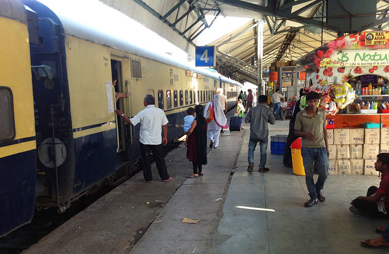 India has maintained its railway system well. It has been modernised but signs of the past still abound.