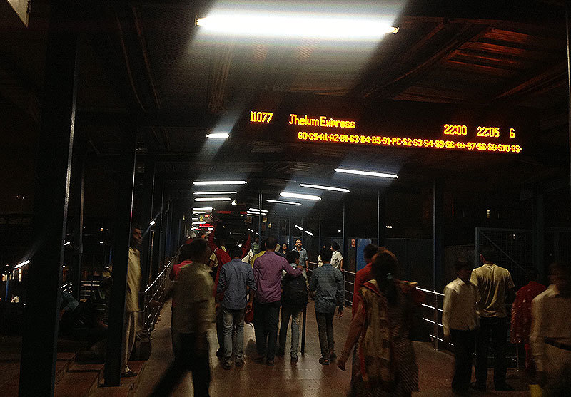 The Jhelum Express will arrive at the Delhi station at 10pm and will leave after five minutes. To where? Your guess is as good as mine.