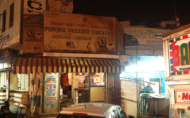 Chicken comes 'fully dressed' in India! I don't really know what this signboard really meant but 'meaty displays' are a sensitive issues there.