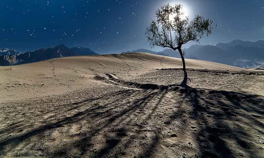 Katpana sand dunes at night. — S.M.Bukhari