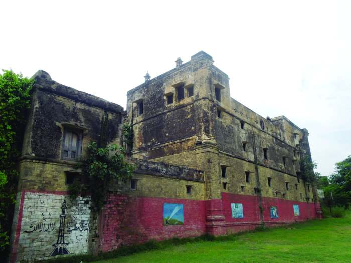 The exterior of the four-storey Bedi Palace.