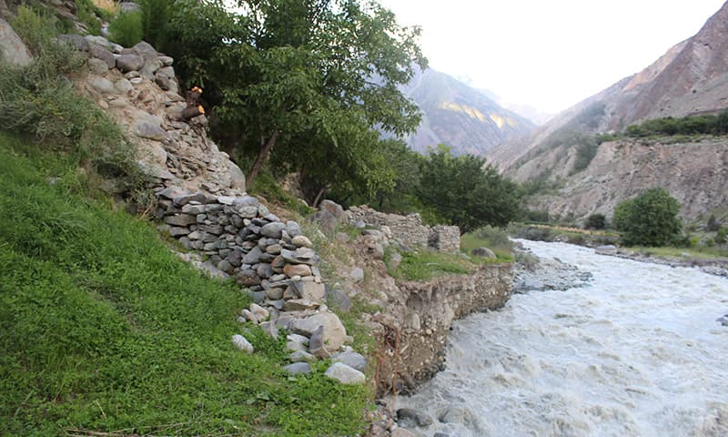 View of a river in Chitral Valley. - Photo courtesy: Syed Zahid Hussain
