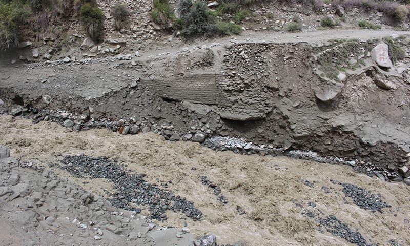 Damage caused by flash floods. - Photo courtesy: Syed Zahid Hussain