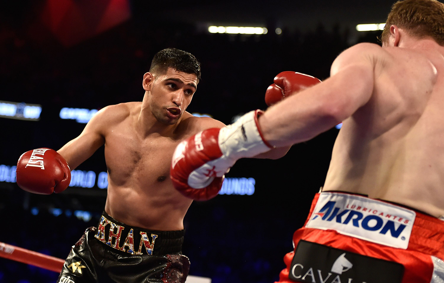 """I showed my balls by getting into the ring with a big guy,"" said Khan. — AFP"