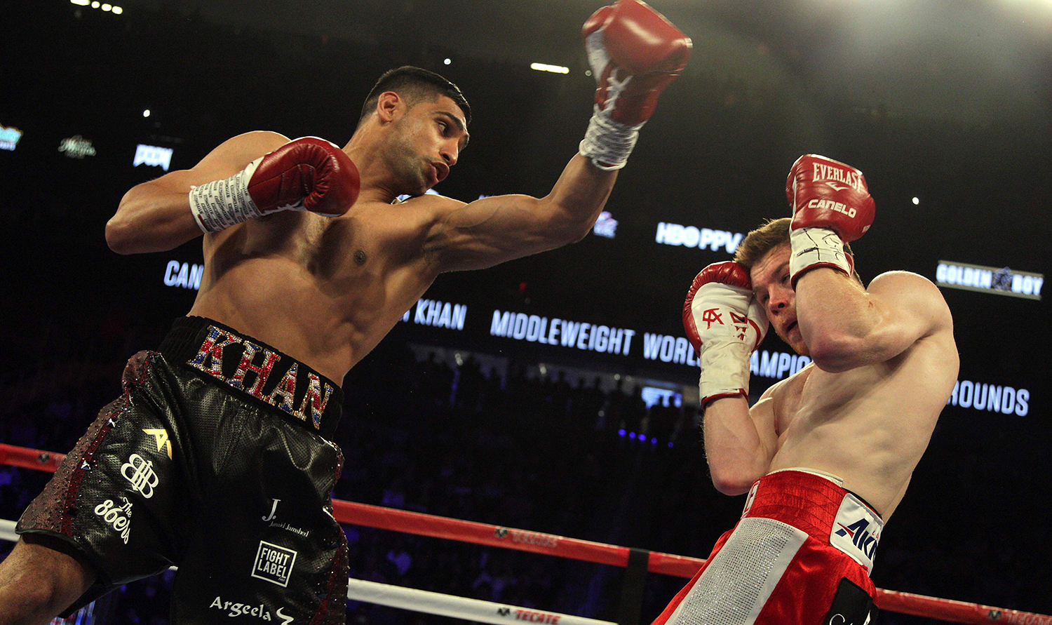 The was Khan's first go at middleweight. — AFP