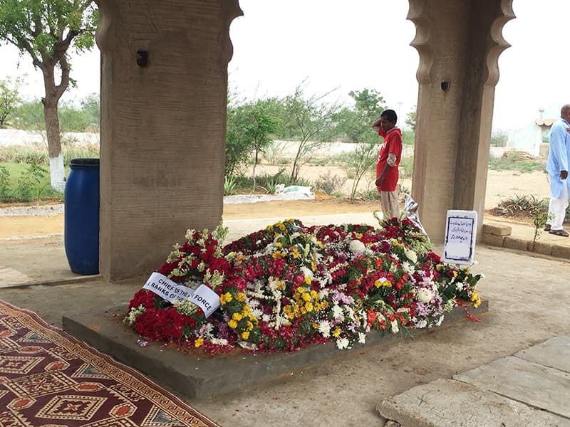 The grave is a burst of colour in the muted landscape of Edhi Village, as the man himself was in the lives of the people he served.