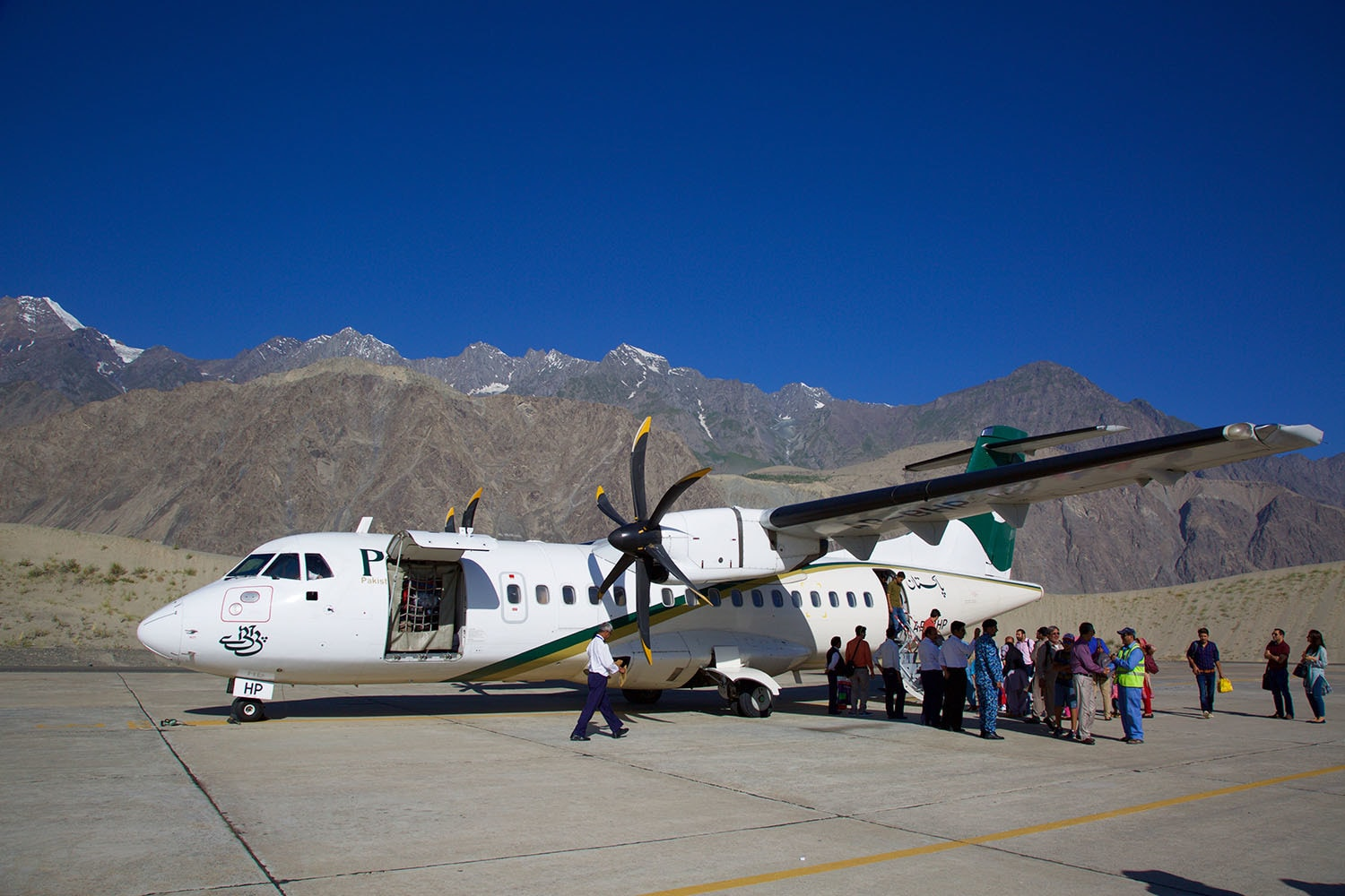 The PK451 flight that took us to Skardu. We passed through Nanga Parbat and Lake Saif-ul-Mulook among other landmark destinations.