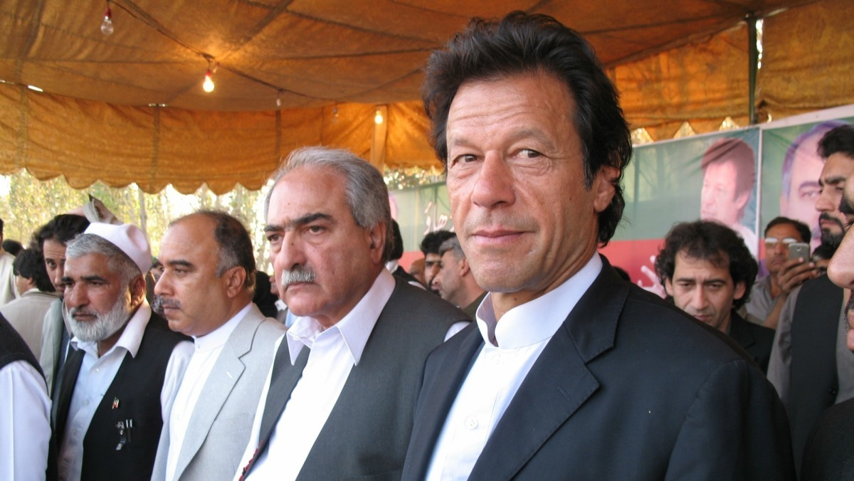 Imran Khan's hair is decidedly more attractive than most people in his cohort