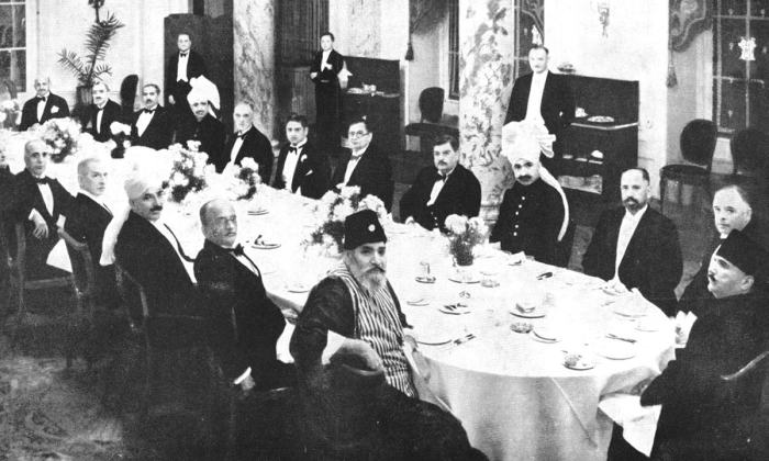 Allama Iqbal (far right) in London for the Second Round Table Conference in 1931 | Iqbal in Pictures