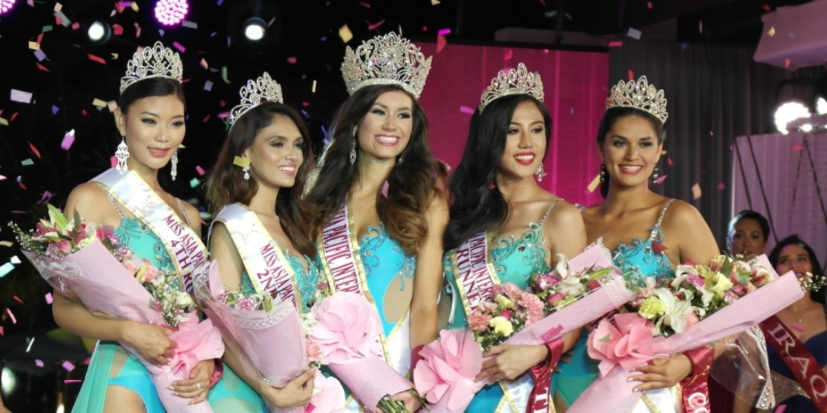 Winners of the Miss Pacific 2016.