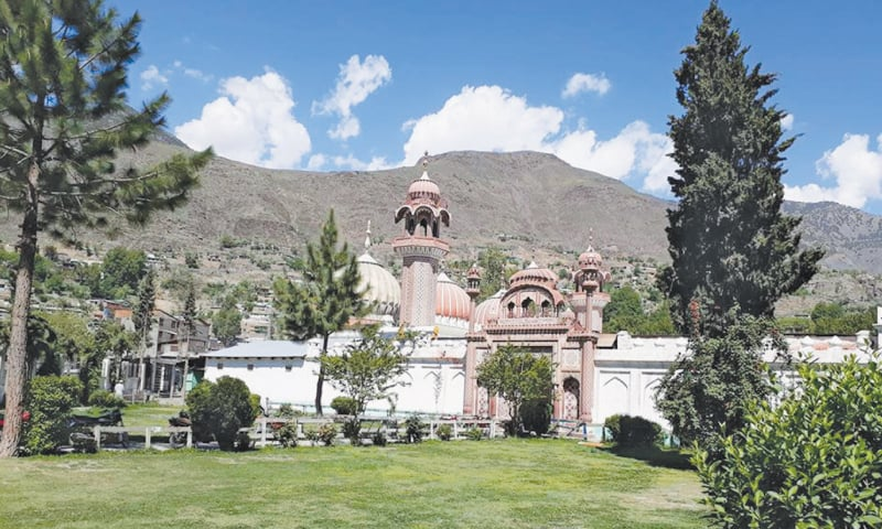 The Shahi Mosque built in 1924 in Chitral city.
