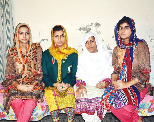 SHOWING the way with their gutsy brilliance....(From R to L) Nazia Batool, Fakhar Iqbal (mother), Farzana Batool and Majida Batool.