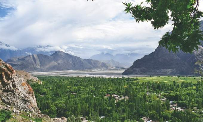 A panoramic view of the valley from a walking trek / Photos by the writer