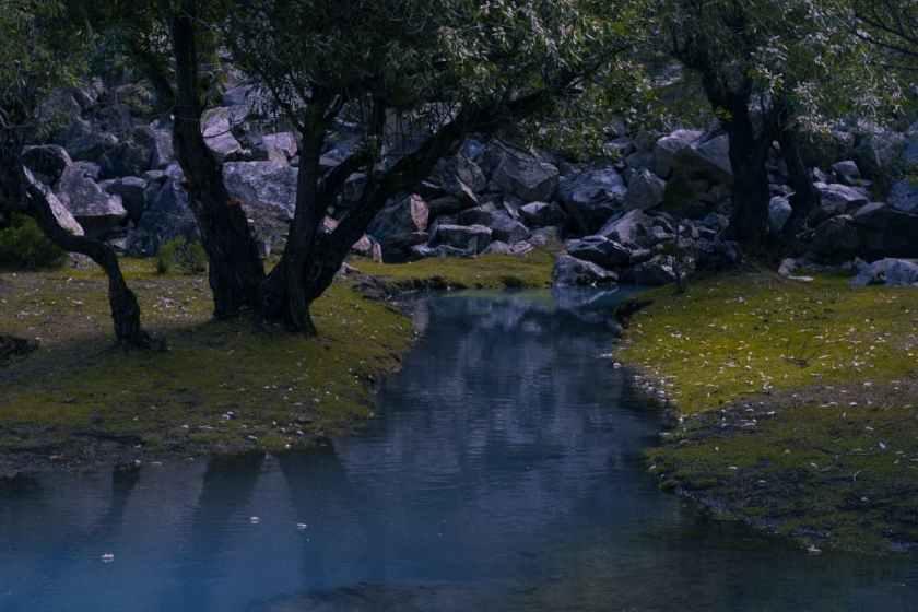 A small stream at the maidan