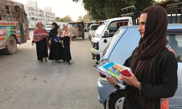 12ویں کے بعد میں وہ خاندان کو چھوڑ کر کراچی چلی آئیں—تصویر عائشہ علی