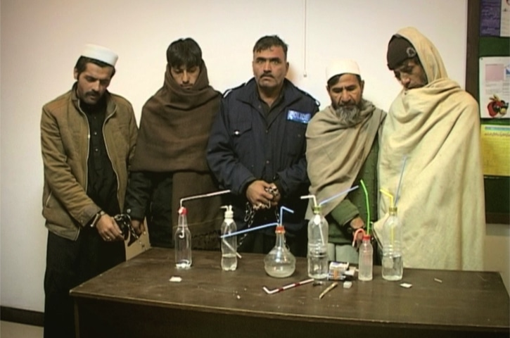 Inayatullah and his accomplices who were nabbed in Shergarh.