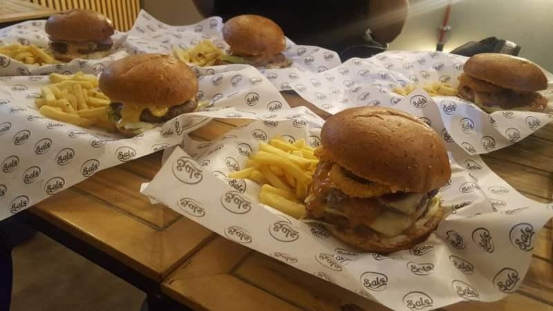 Behold! A burger feast!
