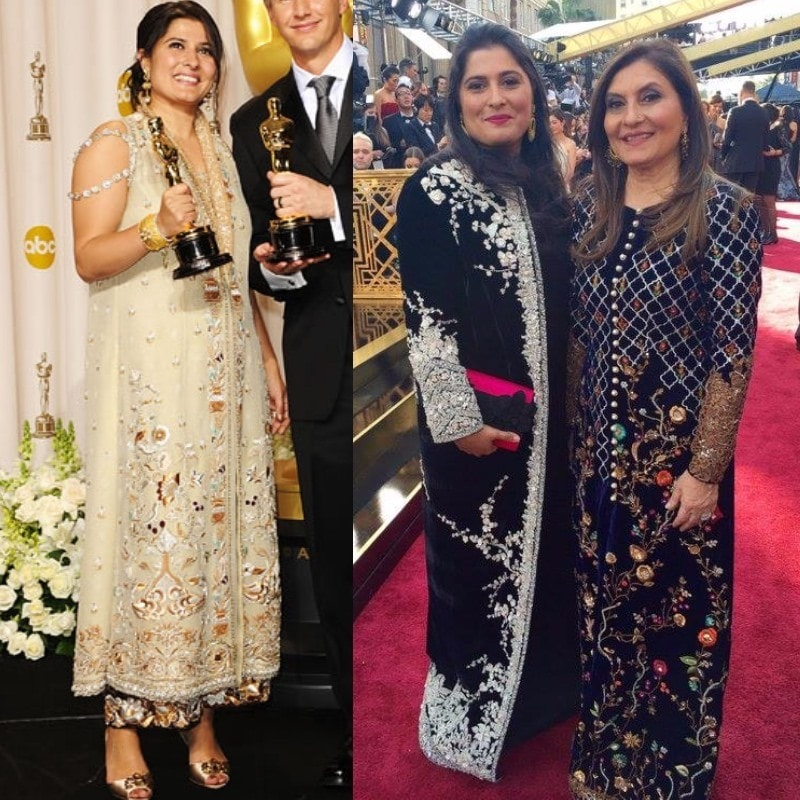 Sharmeen at the Oscars 2012 and 2016