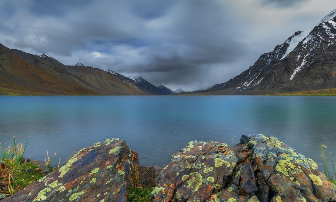 Edge of Karomber Lake. — *Photo by author*