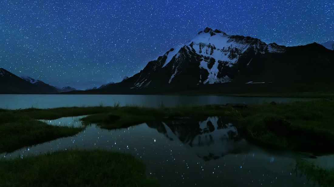 Starry night over Karomber Lake. — *Photo by author*