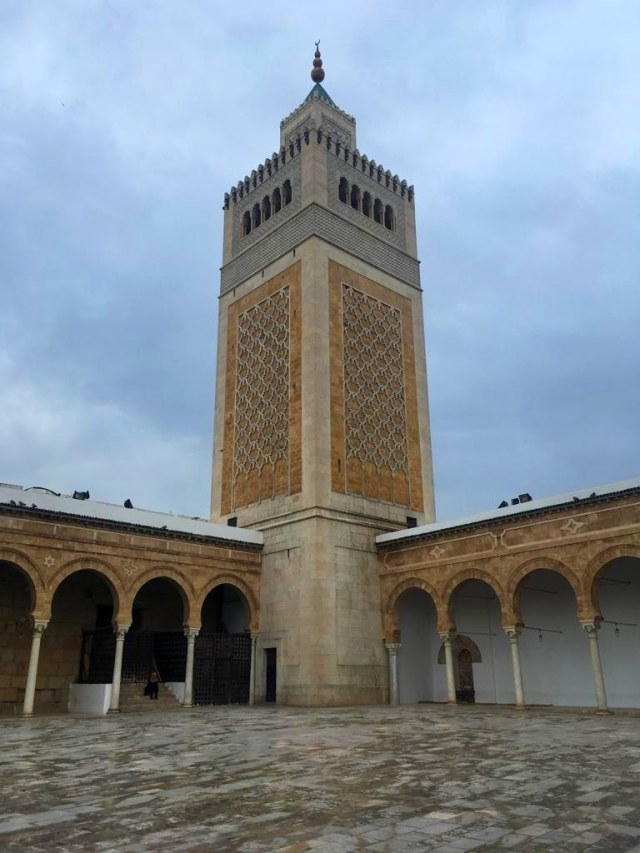 The foundation of Zitouna Mosque is traced to the year 732 AD, but it underwent several modifications, with the last work dating back to the 19th century when the 44-meter-high minaret was remodelled.