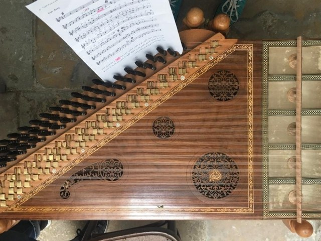 *Kanun* — a string instrument that was as beautiful to look at as the sound coming from it.