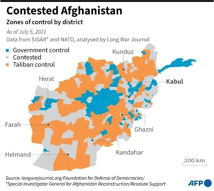 Map courtesy: AFP