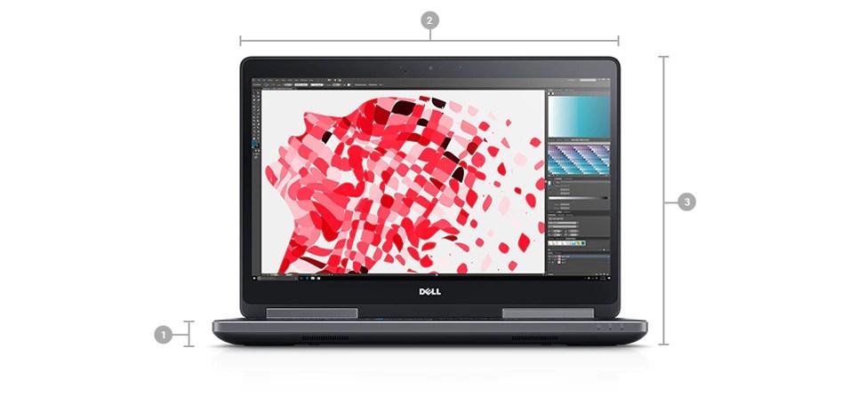 DellPrecision15 série7520: dimensions et poids