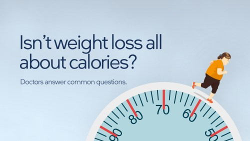 Isn't weight loss all about counting calories?