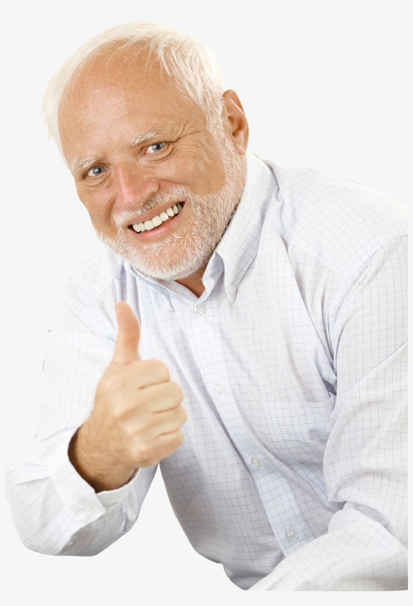 Download Free Png Harold Thumbs Up Transparent Png 845x1213