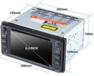 2008 Toyota Hiace GPS sat nav DVD player HD head unit   eBay