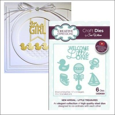 Baby dies Little Treasures Welcome Little One words Creative Expressions die set