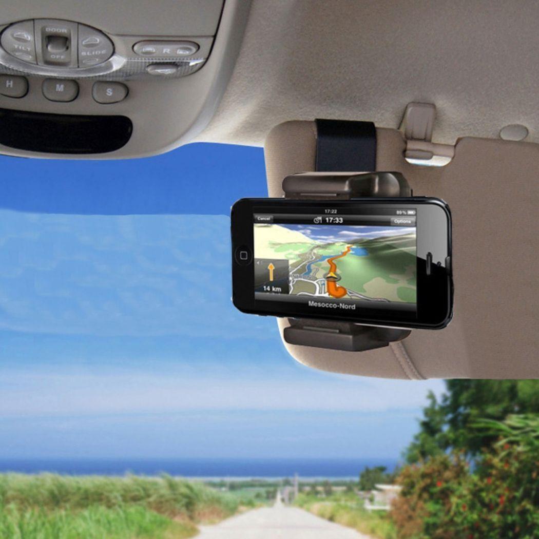 Auto Handyhalterung Sonnenblende KFZ Smartphone Navi Handy Halterung Navigation