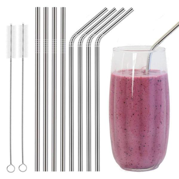 10.5 Stainless Steel Straws | Easy To Clean and Reusable 9