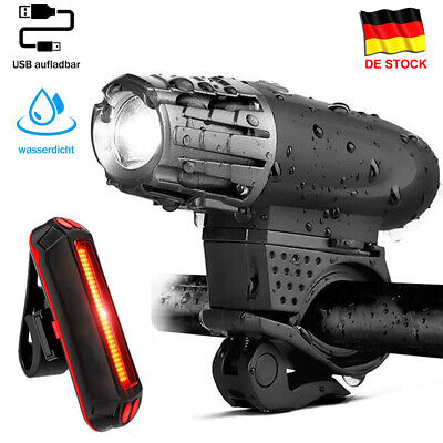 USB LED Fahrradbeleuchtung Fahrrad Licht Scheinwerfer Fahrradlampe Wasserdicht