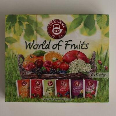 TEEKANNE Tee - World of Fruits 30 Teebeutel 6 Sorten Früchtetee in eine Box