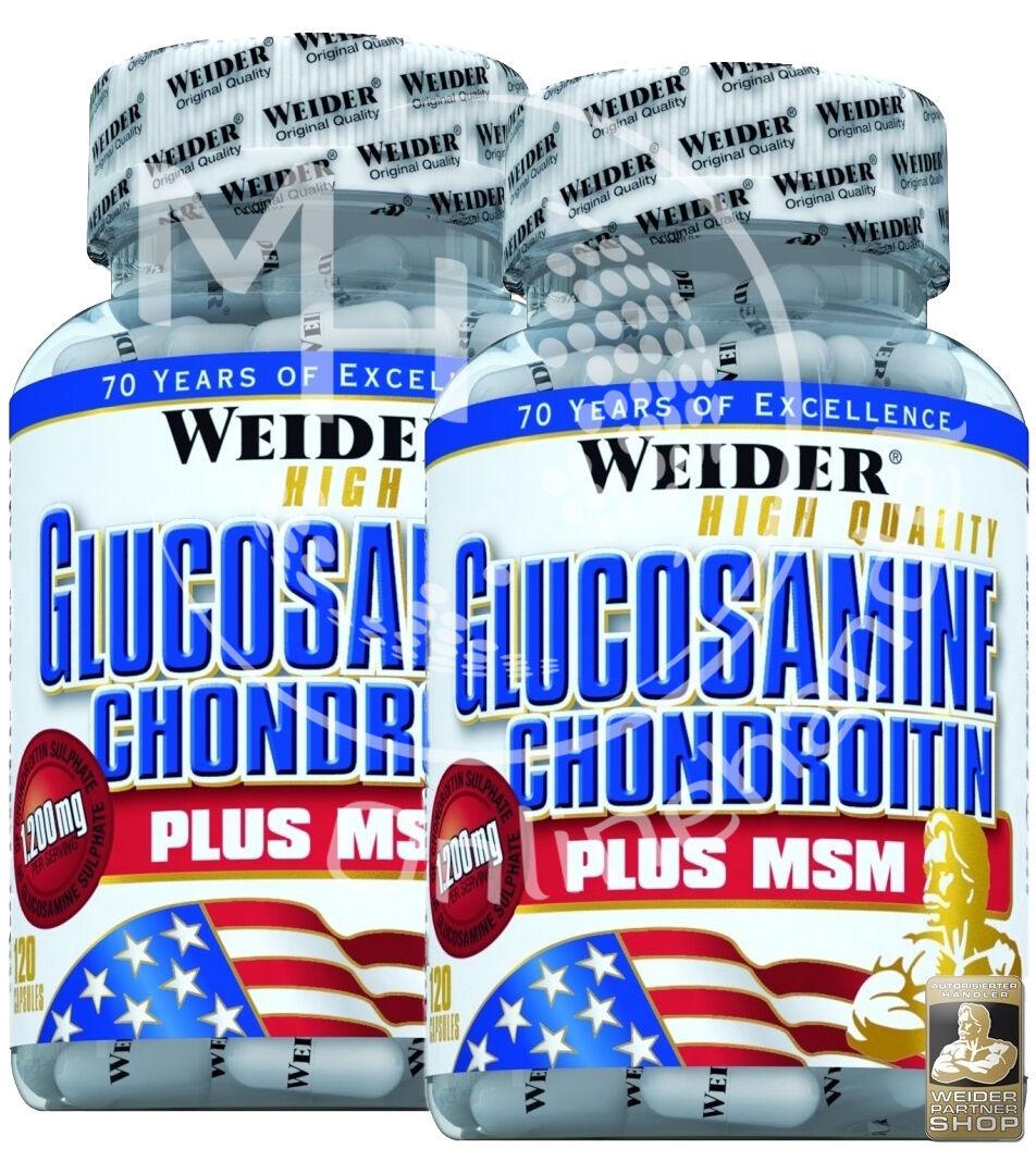 Weider Glucosamine + Chondroitin Plus MSM (210,54€/kg) 2x 120 Kapseln