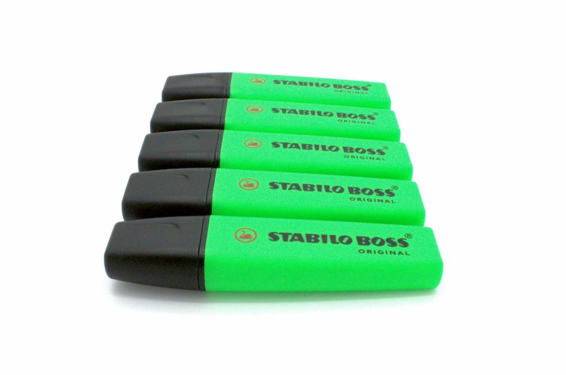 STABILO Textmarker BOSS ORIGINAL, grün, Sparpack wählbar