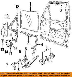 Ford 92 98 F 250 Front Door Window Regulator F4TZ1523201A   eBay
