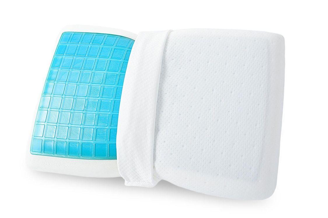 Sei Design Orthopädisches Nackenstützkissen aus Memory Foam mit blauem Gel