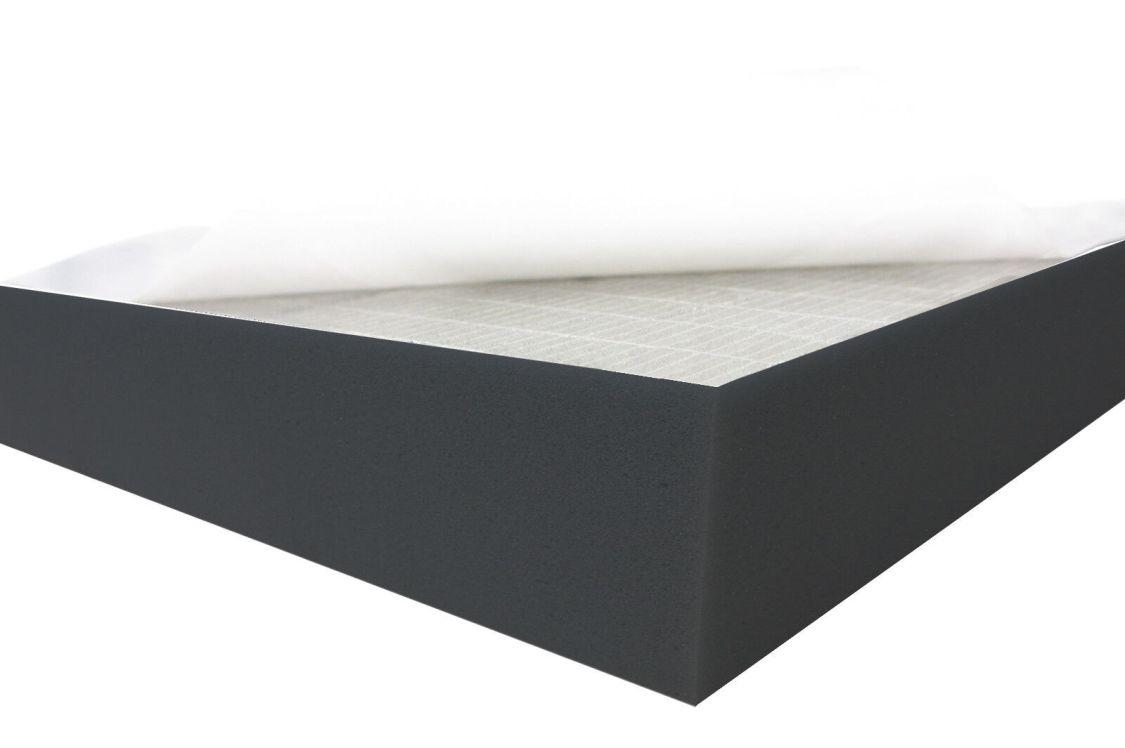 Black FSE SELBSTKLEBEND 2cm Flammhemmend Raum Akustikschaumstoff Schall Dämmung