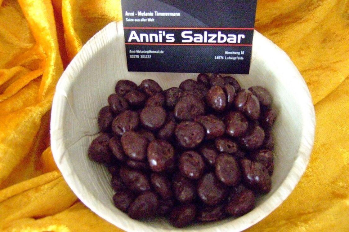 ab 13,98€/kg, Weinbeeren, getrocknet in Zartbitterschokolade (Kakao 50% min)