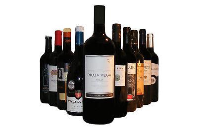 10 Flaschen Spanische Rotwein Probierpaket incl 1x  MAGNUM (6,64€/l)