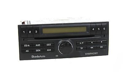 CD Autoradio original SkodaAuto Fabia 6y Skoda Symphony 6Y0035156E ohne Code