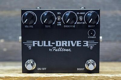 Fulltone Full-Drive 3 Dual Channel 3-way CLIPPING Overdrive/Boost Effect Pedal