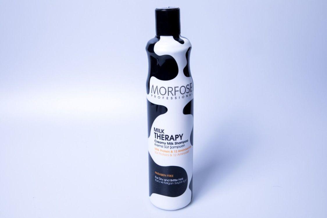 Morfose Milk Therapy Haar Shampoo 400ml Vanille Kokos Duft Glanz geschmeidigkeit