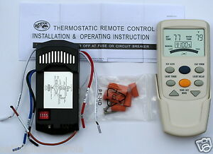 Ceiling Fan Remote Control Kit   eBay HAMPTON BAY CEILING FAN LCD THERMOSTATIC REMOTE CONTROL FAN 9T Complete Kit