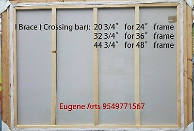 """Pair of  Canvas Stretcher Bars Strips 6 ,8,10,12,14,16,18,20,24,30,36,48,60,72"""" 9"""