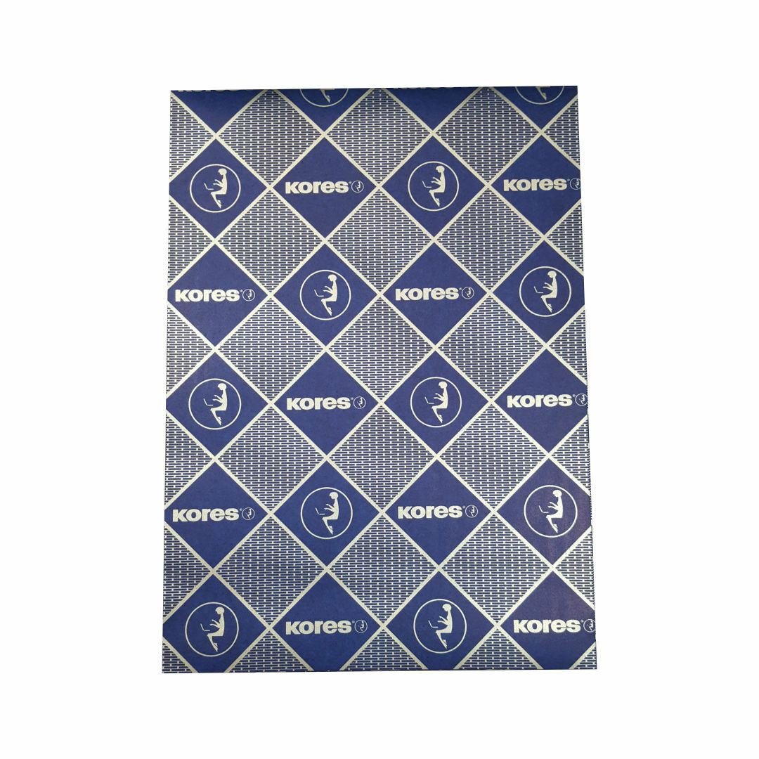 5 Blatt A4 Kores blaues Durchschreibepapier Blau Kohlepapier