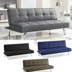 Details About Modern Sleeper Sofa Convertible Futon Bed Wood Frame Couch Lounge Density Foam